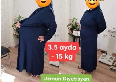 3 Ayda 15Kg